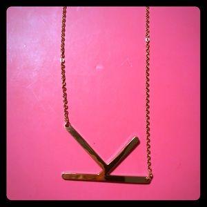 Monogram pendant necklace initial K Anthropologie